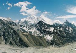 Mount Everest sitting pretty