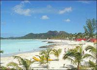 A beach on Antigua