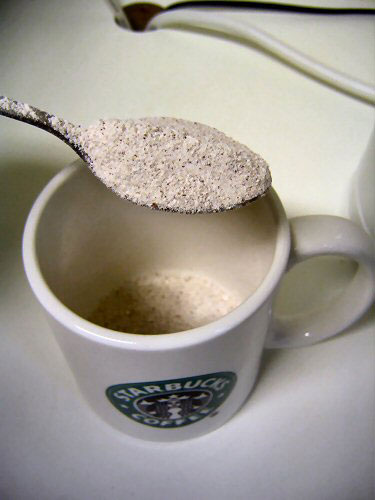 A heaped teaspoon
