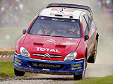 A picture of a rally car