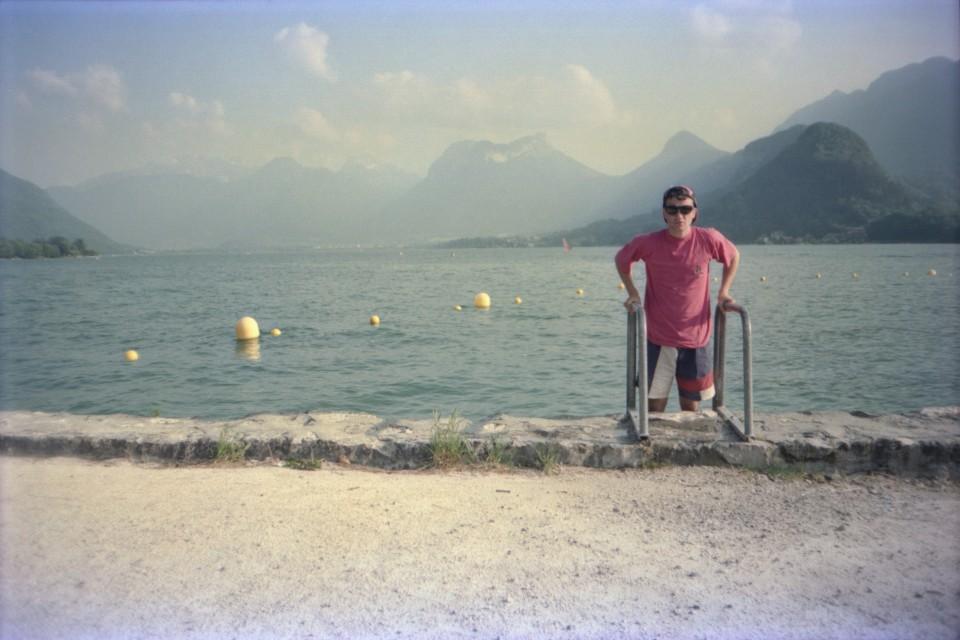 Scott at Lake Annecy