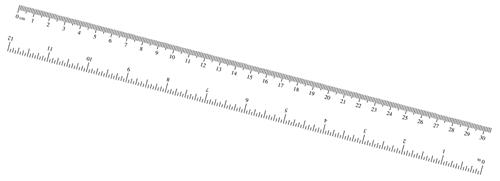 Zany image in printable ruler
