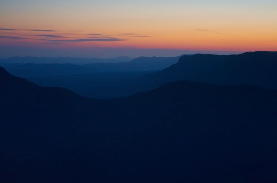 Sunset Over The Blue Mountains