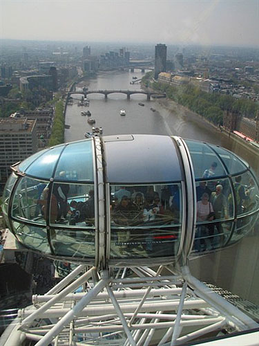 A view down the Thames from the London Eye