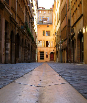 The streets of Lyon
