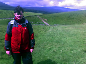 Stuart with Whernside many miles away