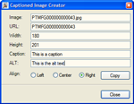 Captioned Image Creator