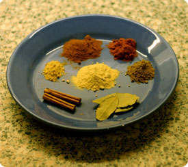Some spices ready for cooking