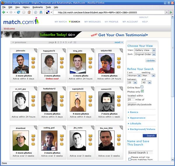 Dating site match.com
