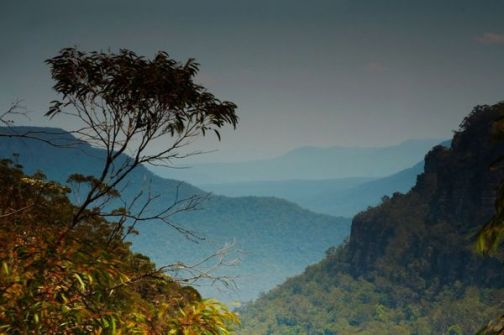 First Glimpse Of The Blue Mountains