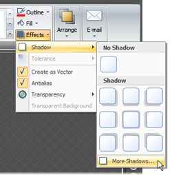 Far too many steps to change the shadow setting
