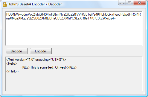 John's Base64 Encoder / Decoder