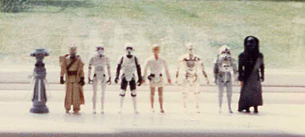 A Grainy Old Photo Of Some Of My Star Wars Figures