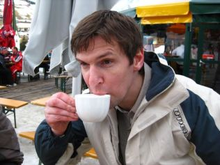 Me Drinking A Cappuccino