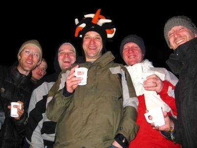 Keeping Warm At The Snow Extravaganza