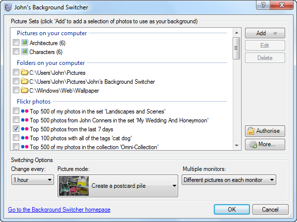 Windows 7 John's Background Switcher 5.2 full