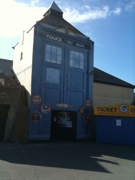 Giant Tardis At Lands End