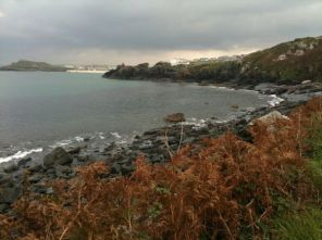 Walking West Along The St Ives Coast