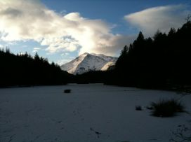 The View Over A Frozen Lochan