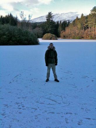 Me On A Frozen Lochan