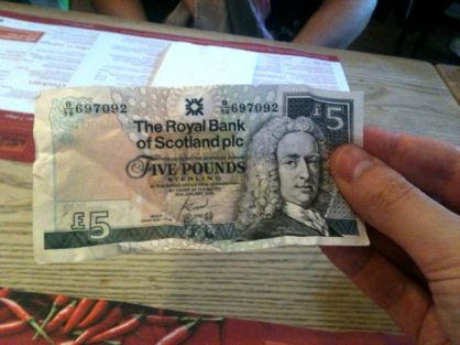 A Scottish Fiver!