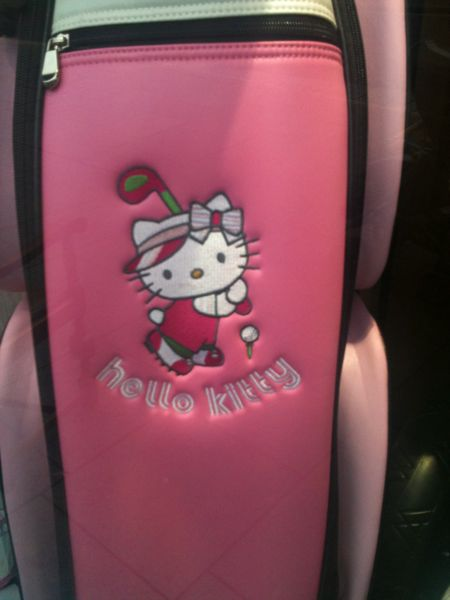 A Hello Kitty Golf Bag