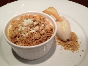 Apple Crumble Creme Brulee