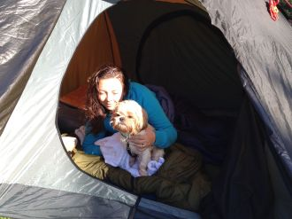 First Morning of Camping