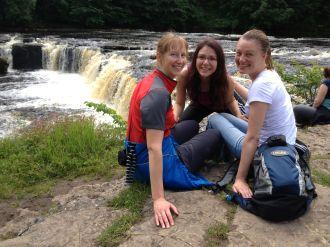 The Girls And Aysgarth Falls