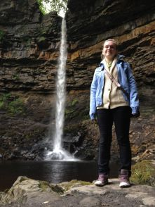 Andreaa At England's Highest Single Drop Waterfall