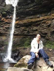 Anca And The Waterfall