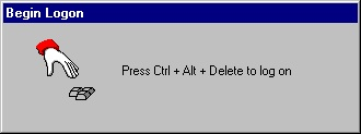 The Windows NT Log On Screen
