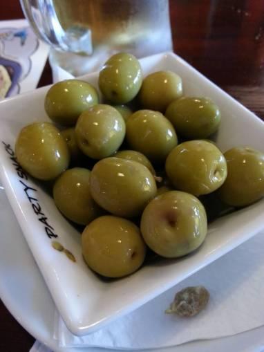 Fresh and tasty olives