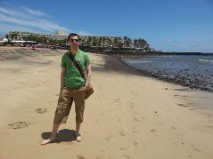 That's me on a sunny beach!