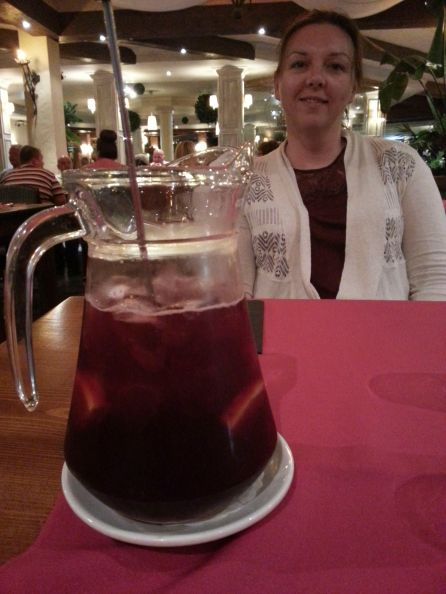 Rachael and some sangria