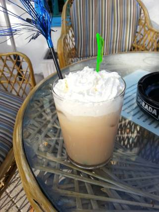 A white russian with cream