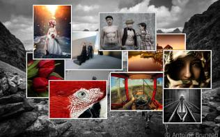 A 500px Postcard Pile With Random Background