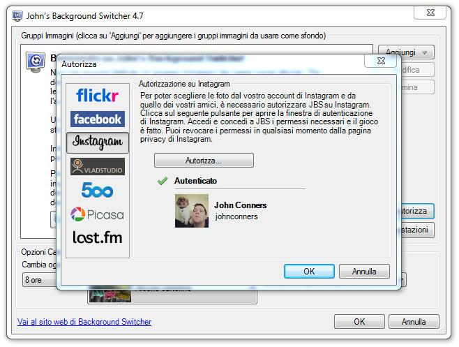 برنامج مجانى لتغيير خلفيات سطح المكتب بشكل منتظم John's Background Switcher 4.7.0.22