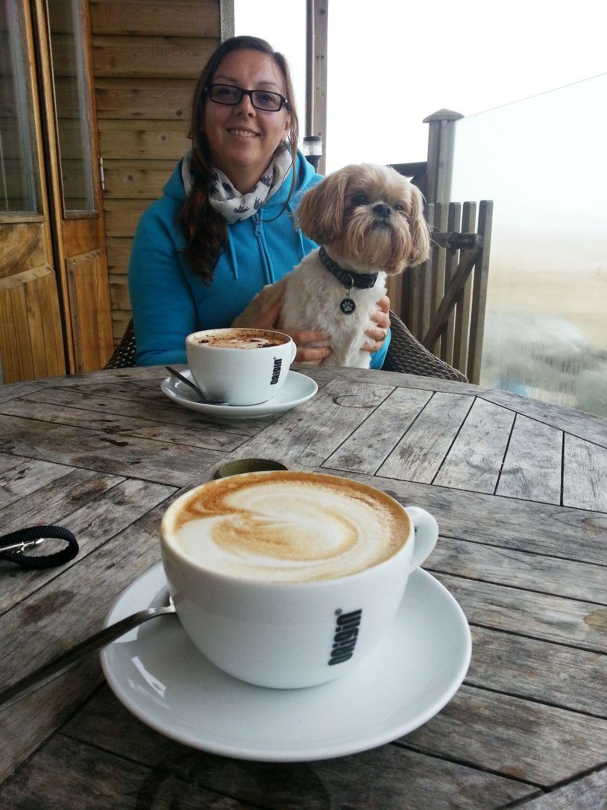 Lap, Dog, Coffee, Her