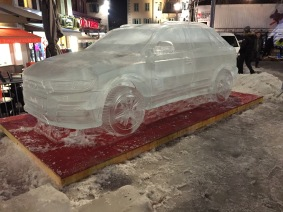 A Life Size Audi Made From Ice!