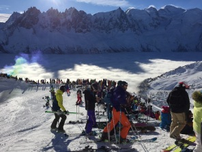 Watching A Freeride Competition