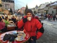 Enjoying Hot Chocolate With Brandy