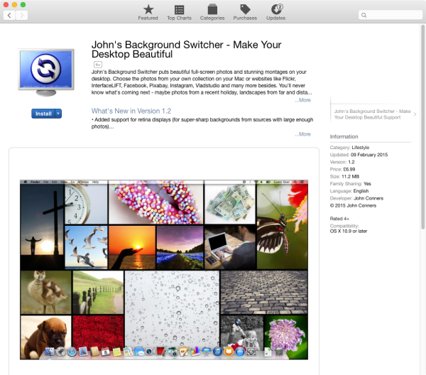 John's Background Switcher on the Mac App Store