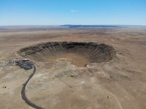 Meteor Crater from above (and far away)