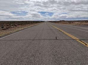 Yep, a very straight road