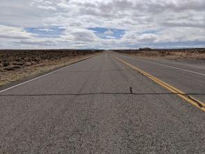 Yep, a very straight road