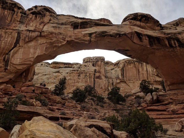 An arch at the Capitol Reef National Park