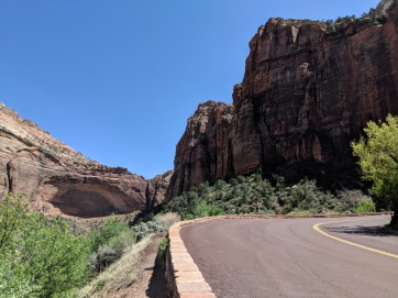 The entrance to Zion National Park - It's big!