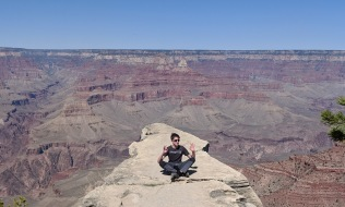 James getting some Zen at the Grand Canyon